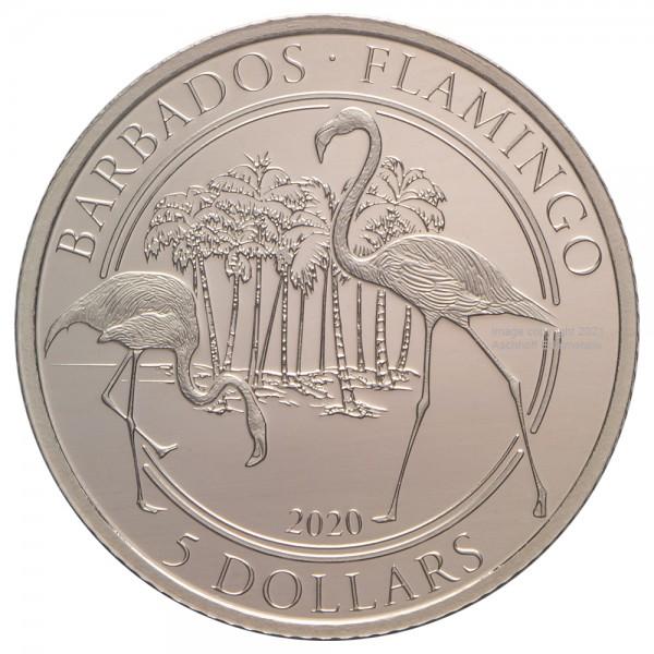 Barbados 2020 Flamingo, Platinmünze 1/10 Unze (oz)