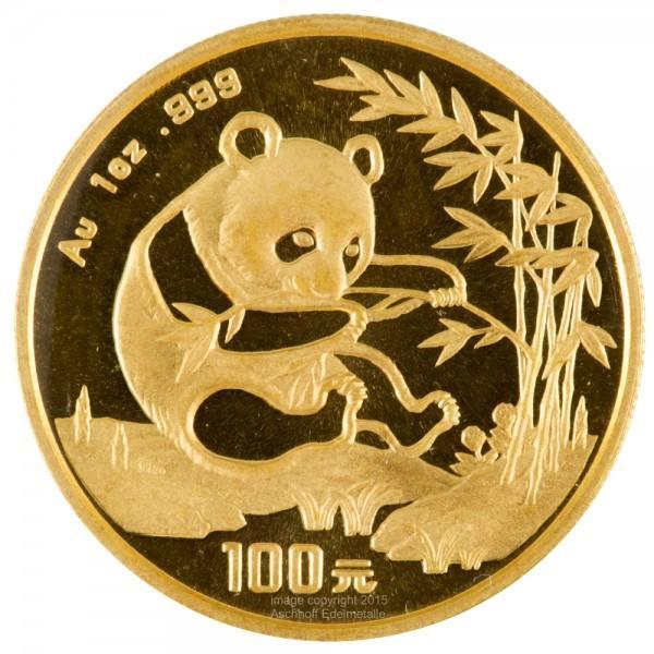 China Panda 1994, Goldmünze 1 Unze (oz) Original-Folie