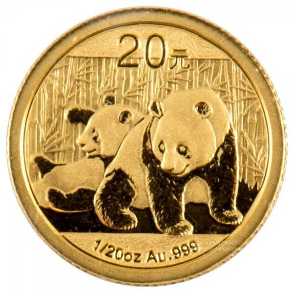 Ankauf: China Panda 2010, Goldmünze 1/20 Unze (oz)