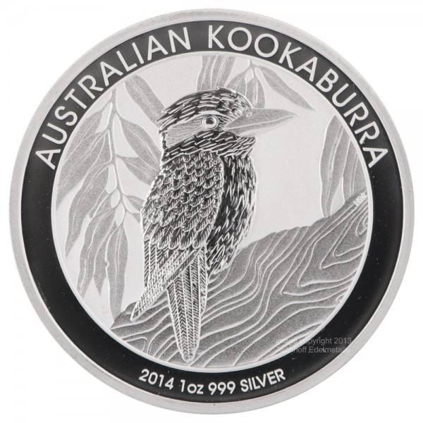 Ankauf: Australian Kookaburra 2014, Silbermünze 1 Unze (oz)