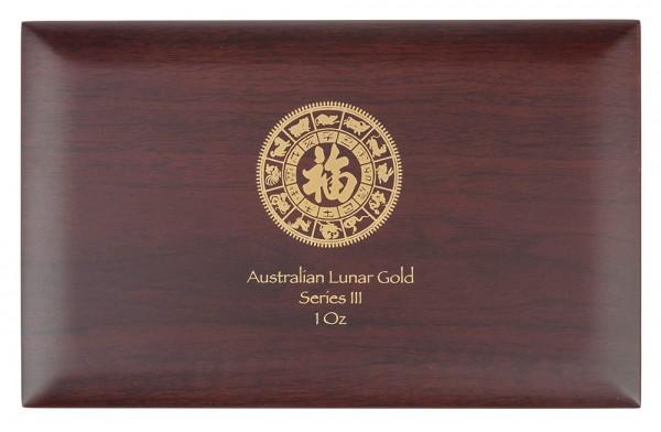 Münzbox für Lunar III Serie 12 x 1 Unze (oz) Goldmünzen