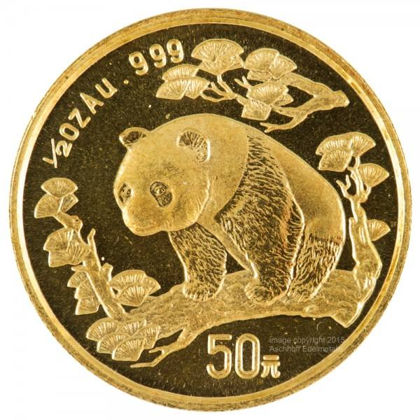 Ankauf: China Panda 1997, Goldmünze 1/2 Unze (oz)