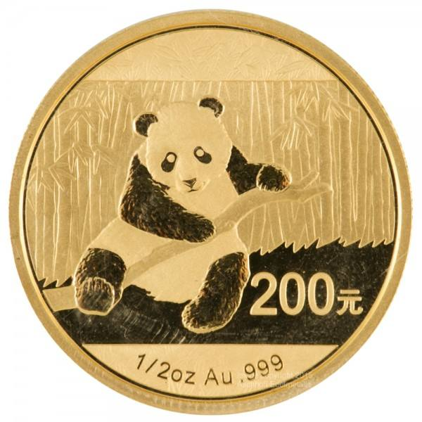 Ankauf: China Panda 2014, Goldmünze 1/2 Unze (oz)