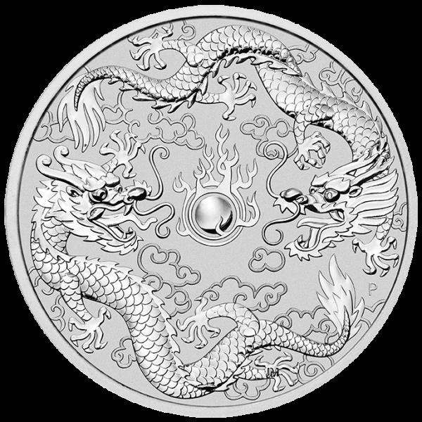 Ankauf: Dragon & Dragon 2019, Silbermünze 1 Unze (oz)