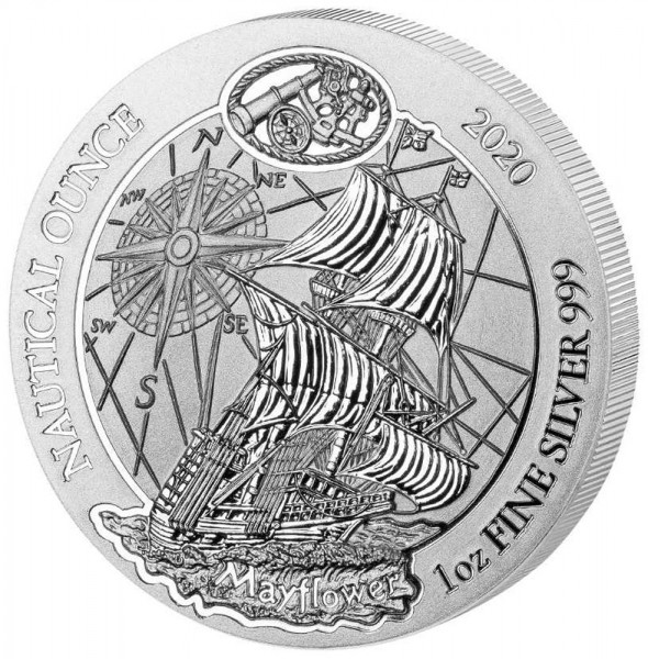 Ruanda Nautical Ounce 2020 Mayflower, Silbermünze 1 Unze (oz)