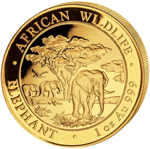 Ankauf: Somalia Elephant 2012, Goldmünze 1 Unze (oz)