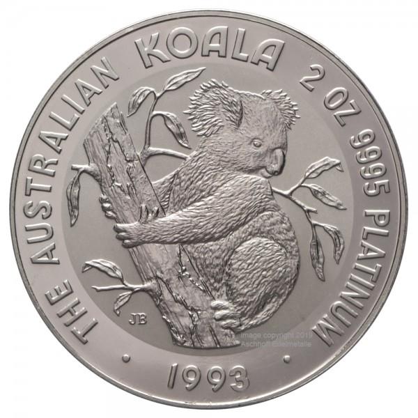 Ankauf: Australian Koala, Platinmünze 2 Unzen (oz), diverse Jahrgänge