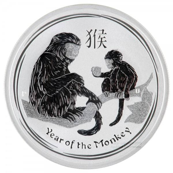 Ankauf: Lunar II 2016 Affe, Silbermünze 1 kg