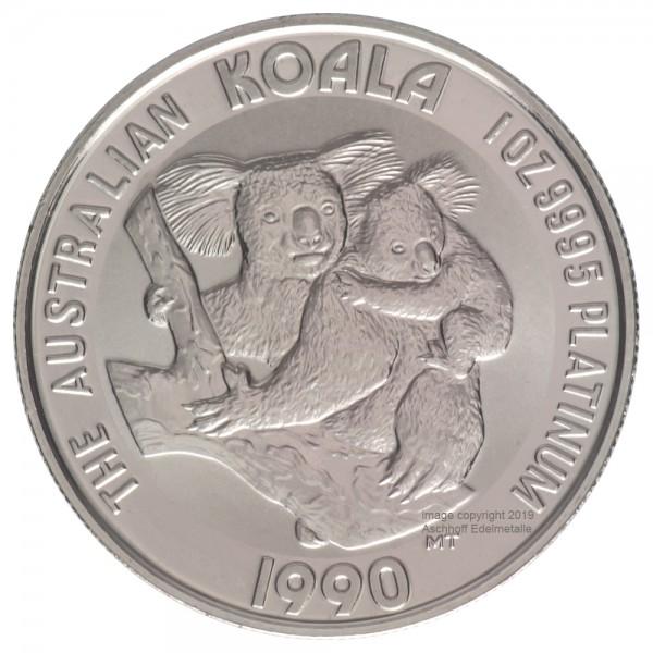 Ankauf: Australian Koala, Platinmünze 1 Unze (oz), diverse Jahrgänge