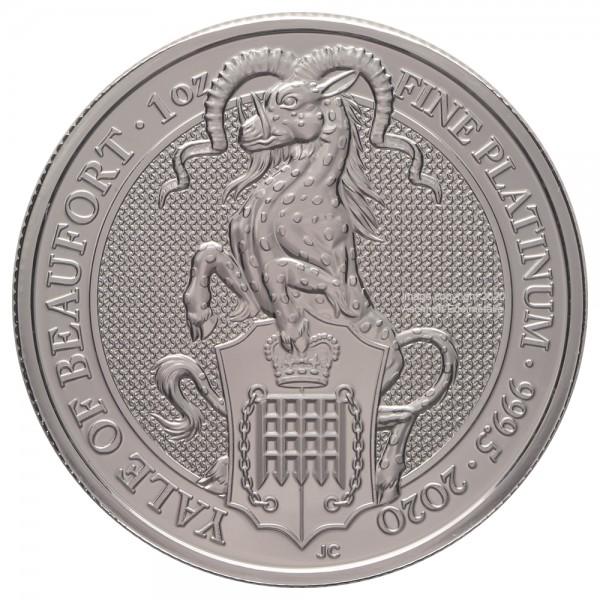 Ankauf: The Queens Beasts Yale of Beaufort 2020, Platinmünze 1 Unze (oz)