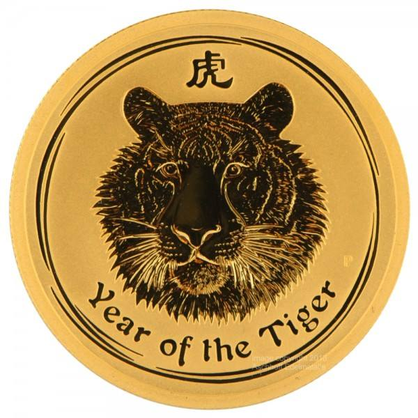 Ankauf: Lunar II 2010 Tiger, Goldmünze 10 Unzen (oz)