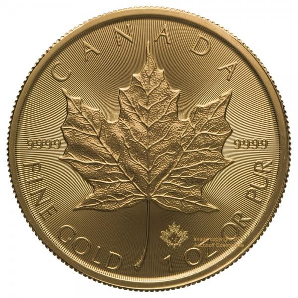 Maple Leaf 2021, Goldmünze 1 Unze (oz) Neuware