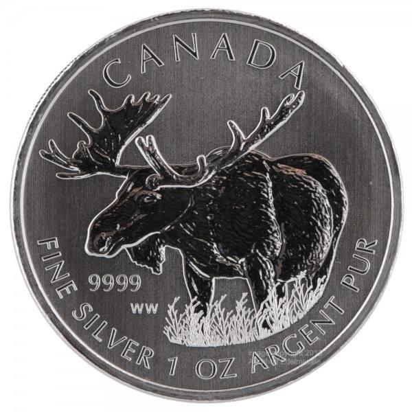 Ankauf: Canadian Wildlife 2012 Elch, Silbermünze 1 Unze (oz)