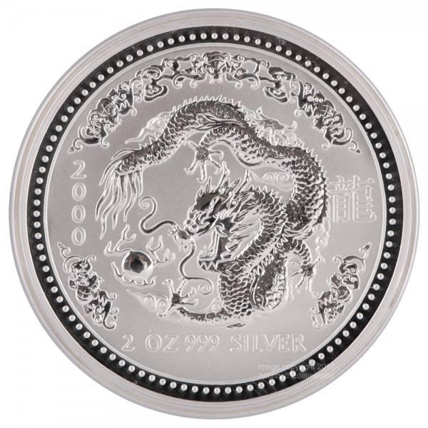 Ankauf: Lunar I 2000 Drache, Silbermünze 2 Unzen (oz)