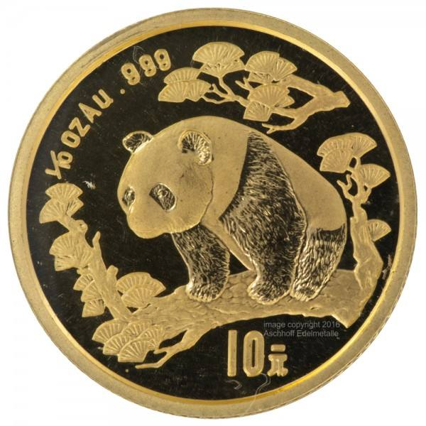 Ankauf: China Panda 1997, Goldmünze 1/10 Unze (oz)