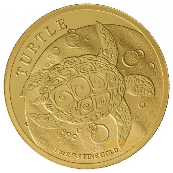 Niue 2017 Schildkröte, Goldmünze 1 Unze (oz)