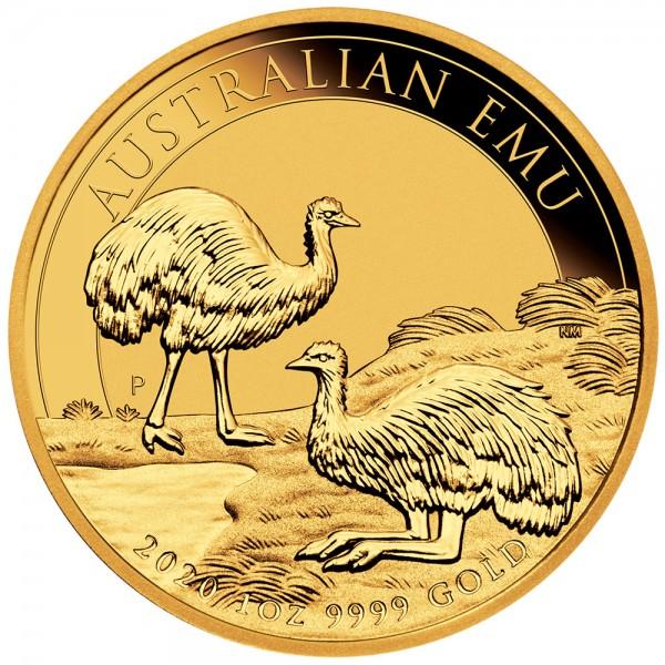 Australian Emu 2020, Goldmünze 1 Unze (oz)