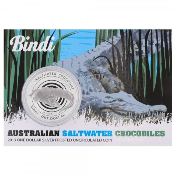 Salzwasser Krokodil 2013 Bindi, Silbermünze 1 Unze (oz)