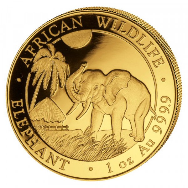 Ankauf: Somalia Elephant 2017, Goldmünze 1 Unze (oz)