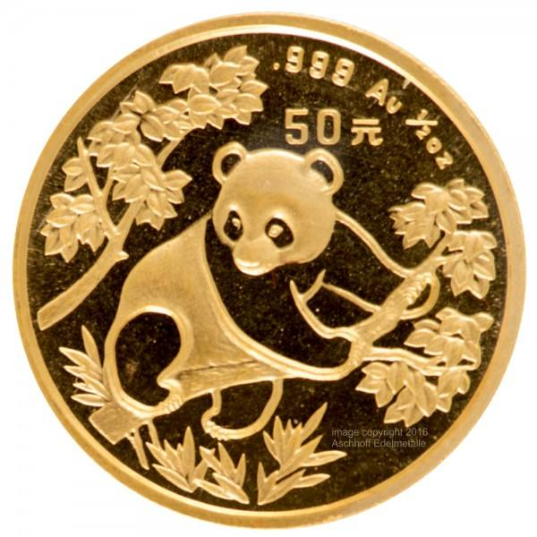 Ankauf: China Panda 1992, Goldmünze 1/2 Unze (oz)