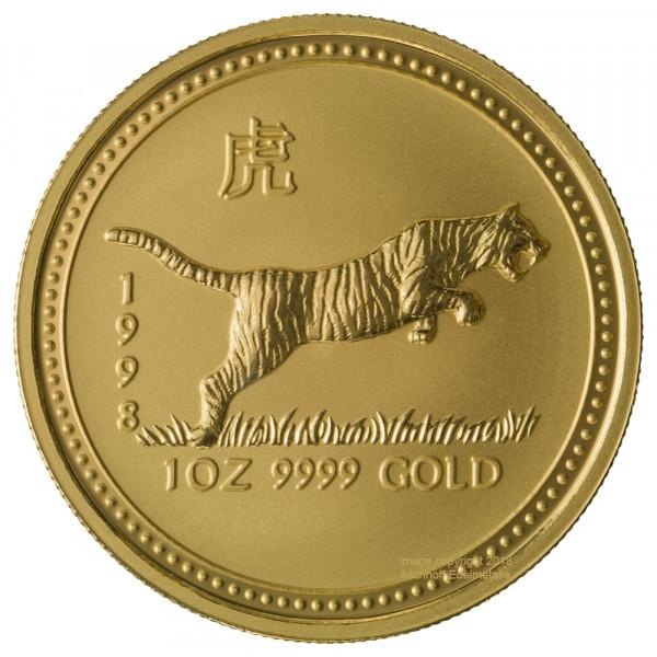 Lunar I 1998 Tiger, Goldmünze 1 Unze (oz)