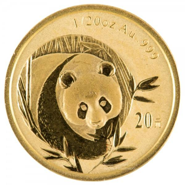 Ankauf: China Panda 2003, Goldmünze 1/20 Unze (oz)