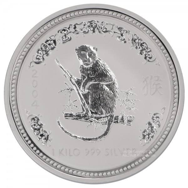 Ankauf: Lunar I 2004 Affe, Silbermünze 1 kg