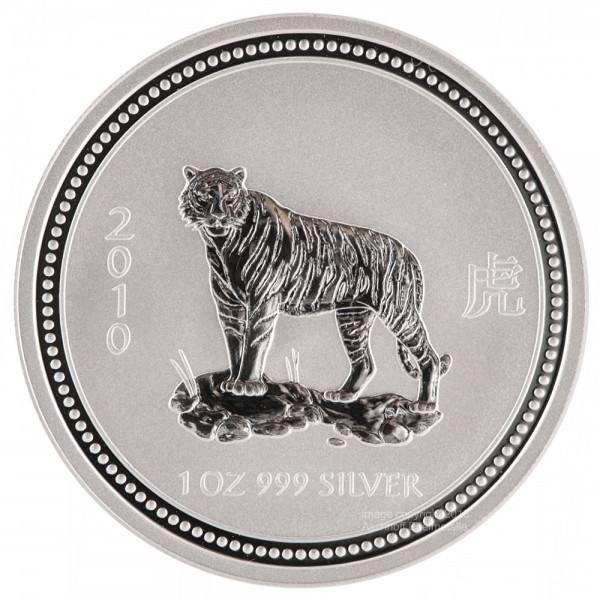 Ankauf: Lunar I 2010 Tiger, Silbermünze 1 Unze (oz)