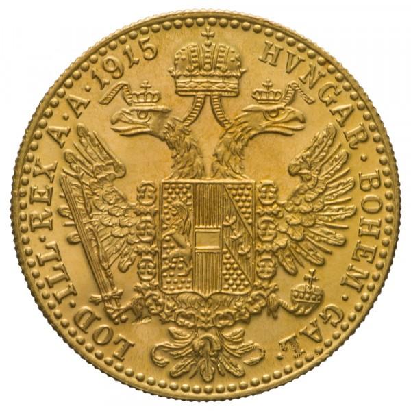 Ankauf: Österreich 1 Dukat, Goldmünze 3,44g fein, diverse Jahrgänge