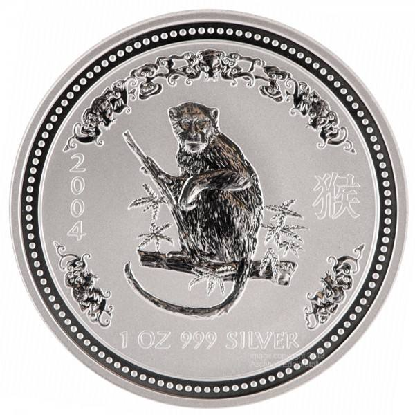 Ankauf: Lunar I 2004 Affe, Silbermünze 1 Unze (oz)