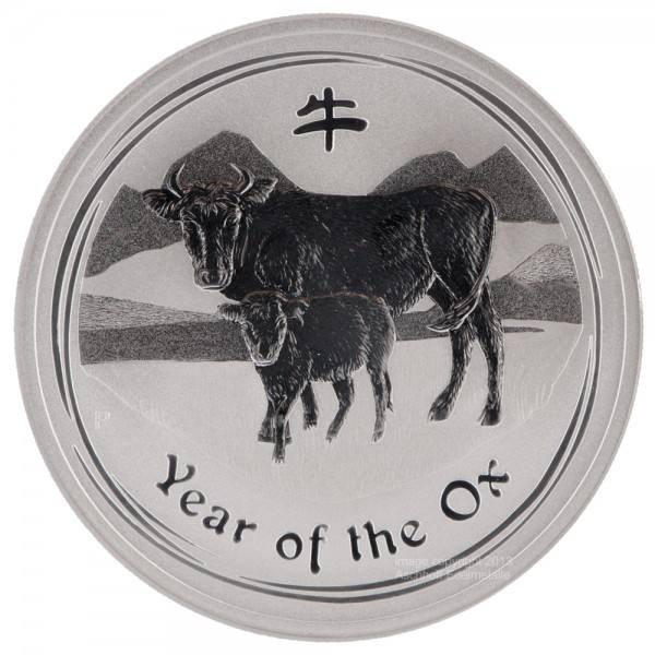 Ankauf: Lunar II 2009 Ochse, Silbermünze 1 Unze (oz)