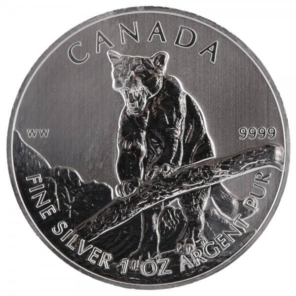 Ankauf: Canadian Wildlife 2012 Puma, Silbermünze 1 Unze (oz)