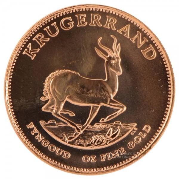 Krügerrand, Goldmünze 1/10 Unze (oz), diverse Jahrgänge
