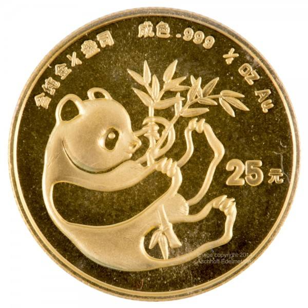 Ankauf: China Panda 1984, Goldmünze 1/4 Unze (oz)