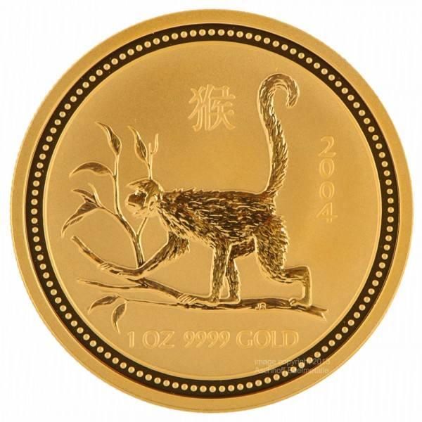 Ankauf: Lunar I 2004 Affe, Goldmünze 1 Unze (oz)