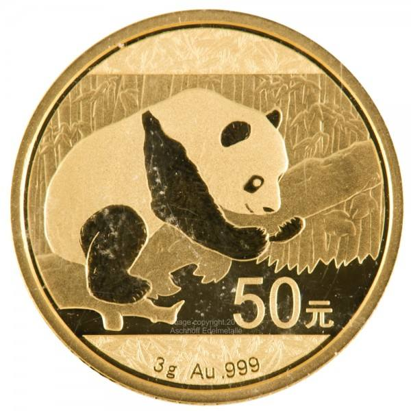 Ankauf: China Panda 2016, Goldmünze 3 Gramm (g)