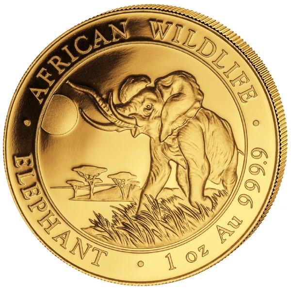 Somalia Elephant 2016, Goldmünze 1 Unze (oz)