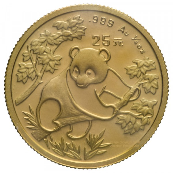 Ankauf: China Panda 1987, Goldmünze 1/4 Unze (oz)