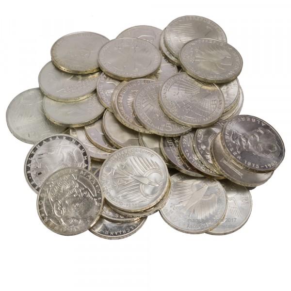 Ankauf: 5 DM Gedenkmünze, Silbermünze 7g fein, diverse Jahrgänge bis 1979