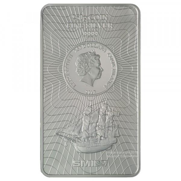 Cook Islands Münzbarren, Silber 250g, Neuware mit Zertifikat
