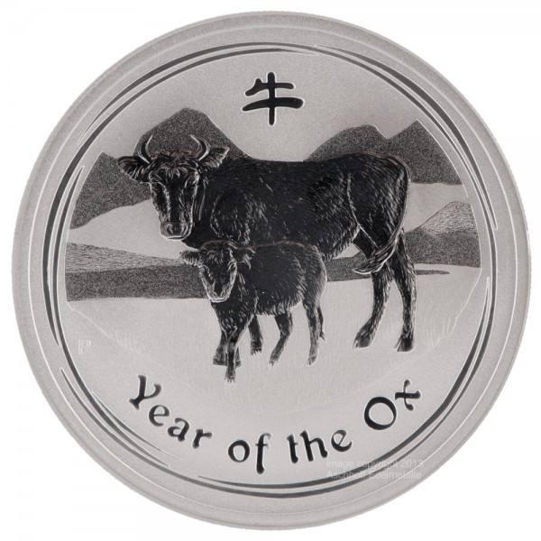 Ankauf: Lunar II 2009 Ochse, Silbermünze 1/2 Unze (oz)