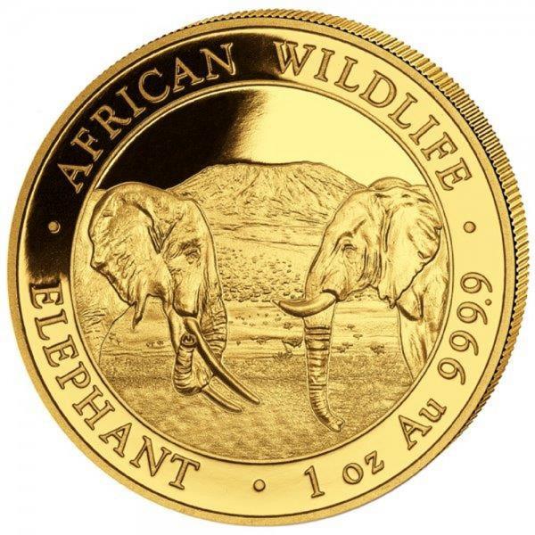 Ankauf: Somalia Elephant 2020, Goldmünze 1 Unze (oz)