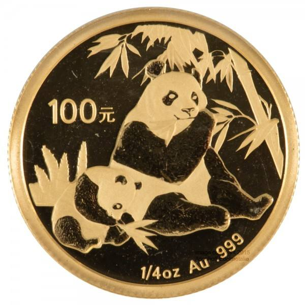 Ankauf: China Panda 2007, Goldmünze 1/4 Unze (oz)