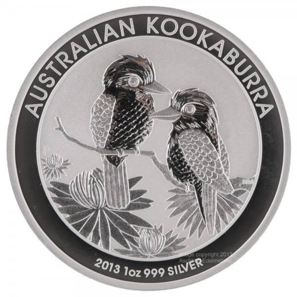 Ankauf: Australian Kookaburra 2013, Silbermünze 1 Unze (oz)
