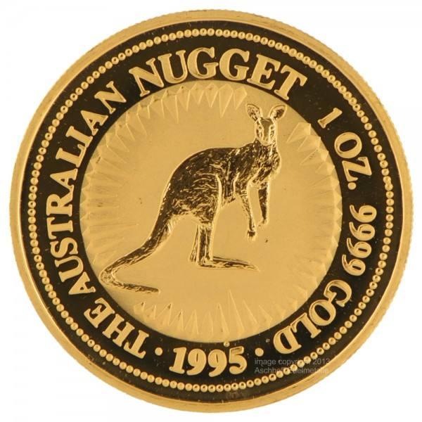 Ankauf: Australian Nugget (Kangaroo) 1995, Goldmünze 1 Unze (oz)
