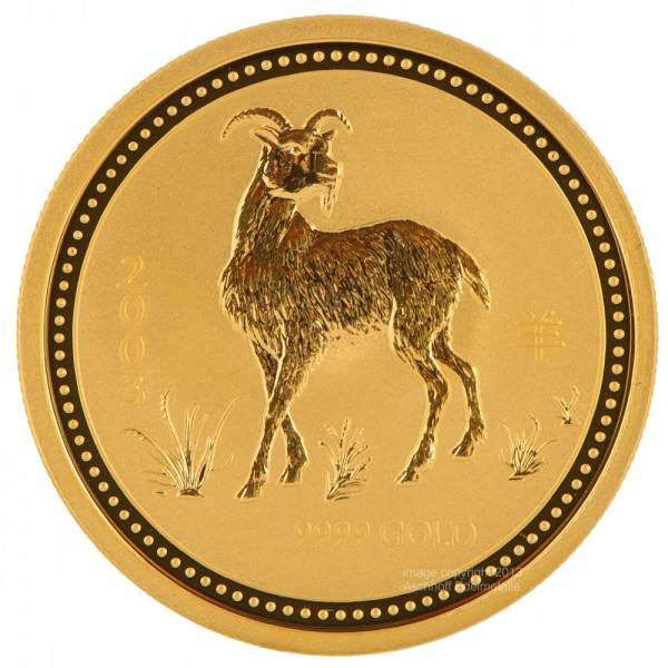 Ankauf: Lunar I 2003 Ziege, Goldmünze 1 Kilo (kg)