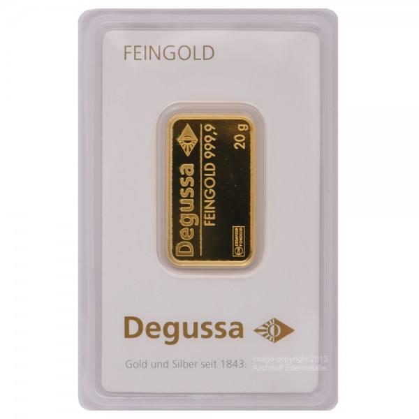 Ankauf: Goldbarren 20g Degussa