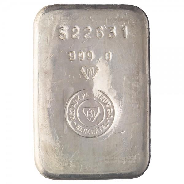 Metalor Silberbarren 1kg gegossen