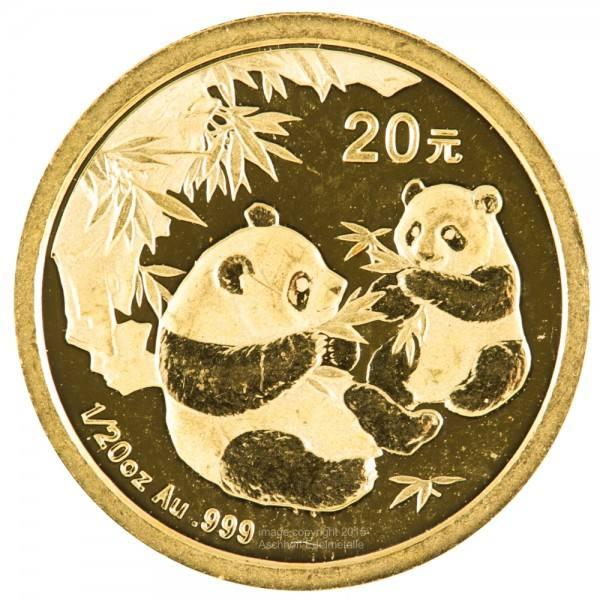 Ankauf: China Panda 2006, Goldmünze 1/20 Unze (oz)