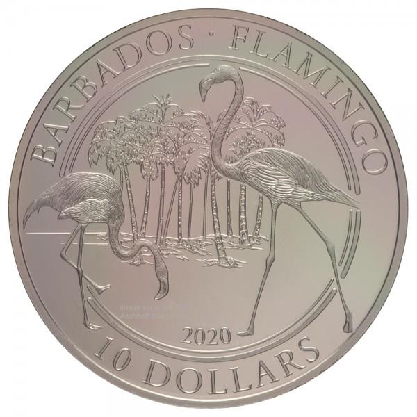 Barbados 2020 Flamingo, Platinmünze 1 Unze ( oz )